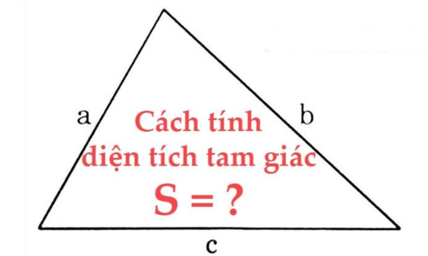cách tính diện tích tam giác