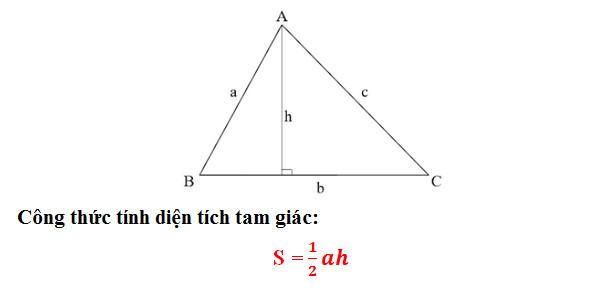 công thức tính diện tích tam giác